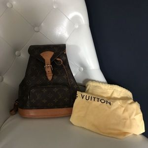 Louis Vuitton Montsouris MM backpack authentic